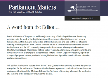Parliament Matters Cover